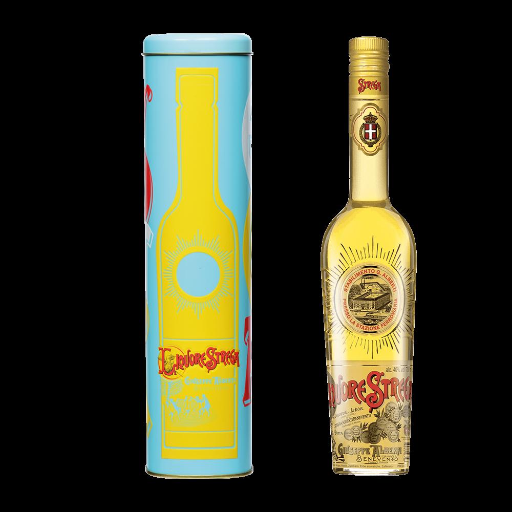 Liquore Strega 700 ml - 40% Vol. - Astuccio in Latta Azzurro